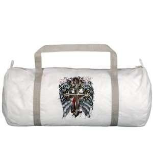 Gym Bag Cross Angel Wings