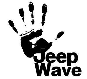 JEEP WAVE Hand Wrangler Rubicon 4x4 Off Road Decal Vinyl Sticker
