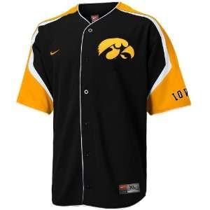 Nike Iowa Hawkeyes Black Power Alley Baseball Jersey