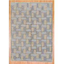 Tibetan Hand knotted Grey/ Light Blue Wool Rug (6 x 83)