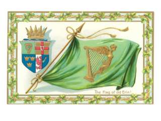 St. Patricks Day, Flag of Old Erin Prints at AllPosters