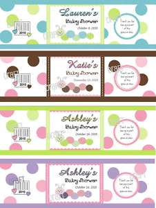32 BABY SHOWER WATER BOTTLE Labels Wrappers Favor