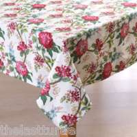 Waverly BLISS CLOVER Mauve Floral Cotton Tablecloth NIP