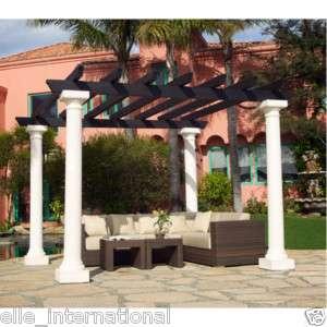 Pergola w/ 4 Doric Columns Gazebo Patio Trellis Outdoor