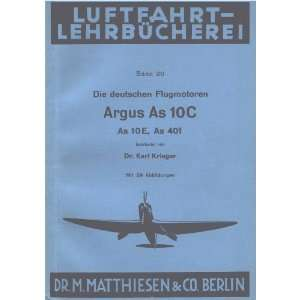 As 10 C   Aircraft Engine Technical Manual   1935 Argus As 10 Books