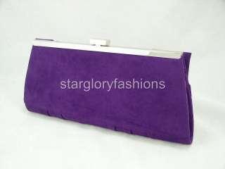 Purple Velvet Designer Rose Wedding Clutch Purse