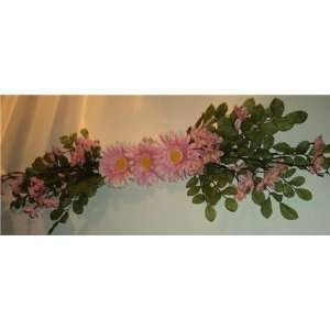 Pretty Pink Daisy Silk Flower Swag: Home & Kitchen