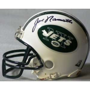Joe Namatn Autographed Jets Mini Helmet Everything Else