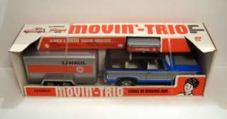 1970s~Nylint UHAUL MOVIN TRIO~Chevy Chevrolet Blazer & Trailer~NRFB