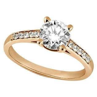 Engagement Ring Setting 18k Rose Gold  Allurez Jewelry Rings Wedding