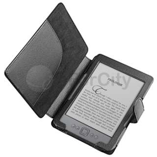 PU Folio Leather Skin Case Cover Wallet Pouch For  Kindle 4 New