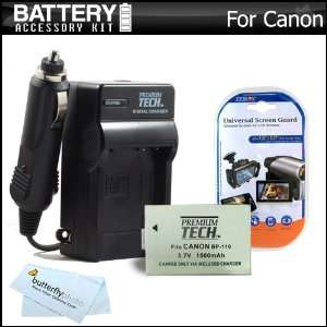 BP 110 Battery + Ac/Dc Travel Charger + MicroFiber Cloth + LCD Screen