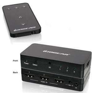NEW 3 Port HD Audio/Video Switch (Cables Audio & Video