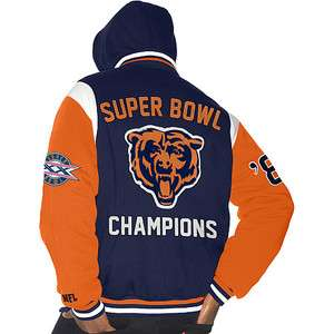 III Officially Licensed Chicago Bears Super Bowl 85 Winter Jacket