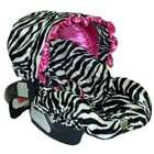 Baby Bella Maya Infant Car Seat Cover Zoe Zebra with Ruffle Canopy