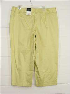 GEORGE Pistachio Green STRETCH Capri Pants NWT, Sz 18W