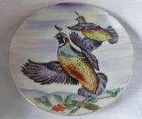 Ucagco Hand Painted Ceramic Flying Quail Plate Japan