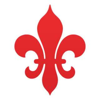 Vinyl Car Decal Sticker Fleur De lis logo symbol ZK6ZZ