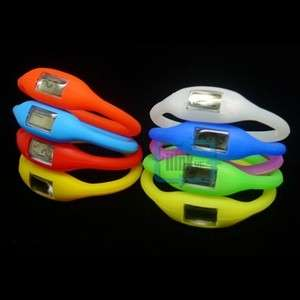 Color Silicone Rubber Jelly Ion Sports Bracelet Wrist Watch