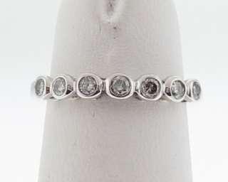 Genuine Diamonds Solid 10k White Gold Band Ring