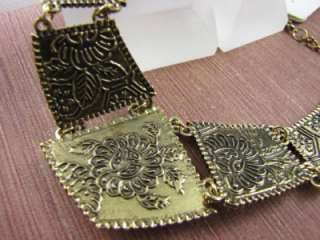 India Style Fashion Gold Tone Pendant Necklace Chains MS2099