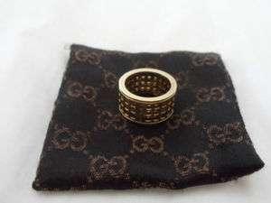 Gucci 18k yellow gold rotating ring size 6.25 band 750