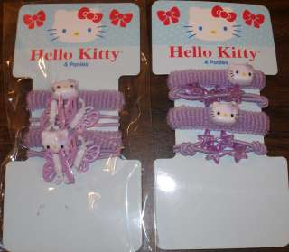 KITTY PONY TAIL PONYTAIL HOLDER SET PACKAGE HELLO KITTY HAIR ACCESSORY
