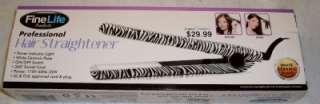 Life Professional Hair Straightener * Black & White Zebra Print * NEW