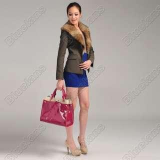 Atmospheric Full Genuine Cowhide Leather Tote Bag Shoulder Bag Handbag