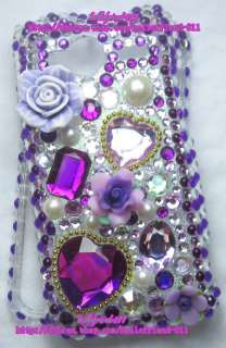 New Rhinestone BLing Full Case for HTC EVO Shift 4G #3