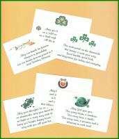Irish Celtic Wedding Favors Poem Inspirational Cards