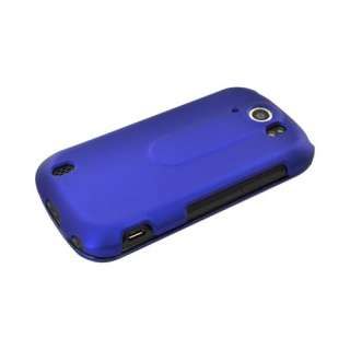 For HTC Mytouch 4g Slide Blue Rubberized Protective Hard Shell Case