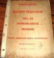 Massey Ferguson Tractor 52 Pitman Mower Parts Catalog