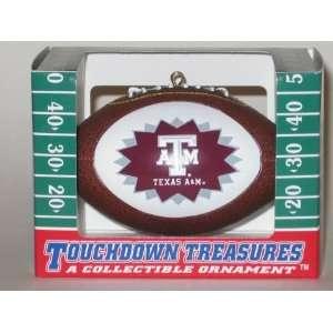 TEXAS A&M AGGIES Mini Replica NCAA Football CHRISTMAS ORNAMENT (Star