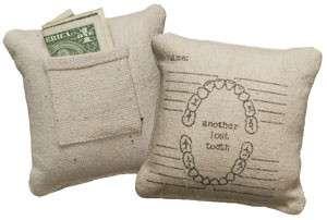 Lost Tooth Money Holder Tooth Fairy Pillow Nursery Baby Keepsake