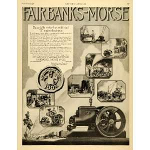 1920 Ad Farmers Fairbanks Morse Z Engines Machinery Feed