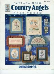Dimensions Mock Country Angels Book Three Cross Stitch