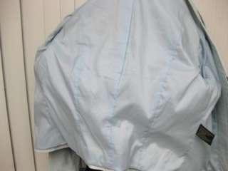 Super Soft DANIER Italian Leather Ladies Coat Jacket Lt. Turquoise