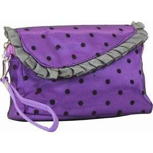 Mad Style Purple Satin Darling Wallet Purse Make up Bag Wristlet