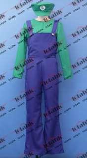 Super MARIO Bros Luigi Cosplay Costume Custom Made