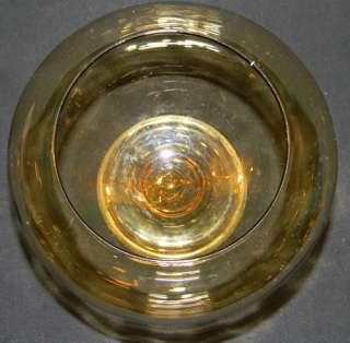 ANTIQUE 20s CARDER STEUBEN GLASS 5 AMBER ROSE VASE