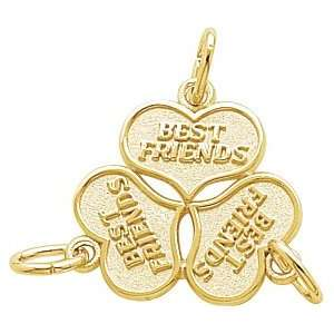 Rembrandt Charms Best Friends Charm, 10K Yellow Gold