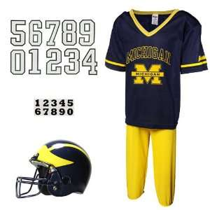 : Michigan Wolverines Youth Navy Blue Maize Deluxe Team Uniform Set