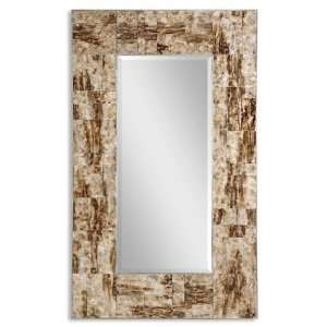 Uttermost 50 Inch Durante Wall Mounted Mirror Reversed Painted Glass