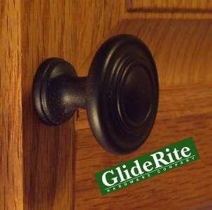 Matte Black Cabinet Hardware Knob Round Ring  5415 MB