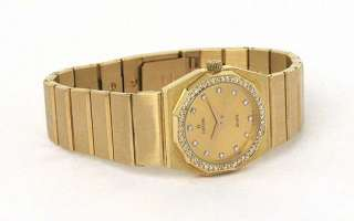 LADIES 14K GOLD & DIAMONDS CONCORD MARINER WRIST WATCH