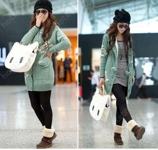Fashion Style Cute Cat Face Lady Hobo Fluffy Bag Shoulder Handbag