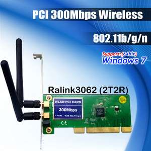 PCI 11n 300M 802.11b/g/n 300Mbps Wireless WiFi Card adapter