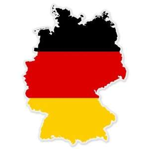 Germany Map Flag car bumper sticker decal 5 x 4