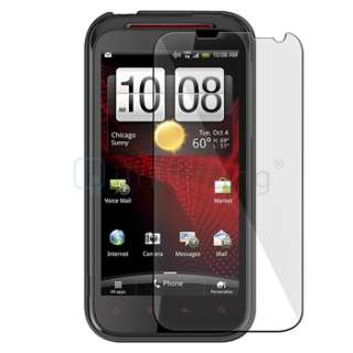 Snap on Rubber Hard Case+2 Film+Car+Wall Charger+USB For HTC Rezound